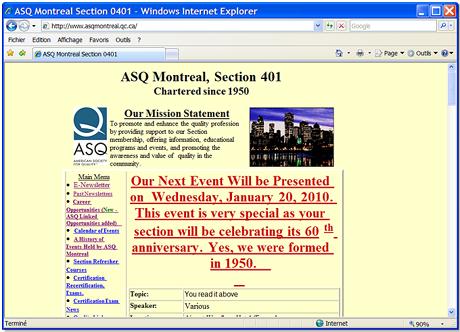 1990 : Notre premier site web