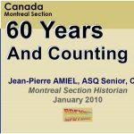 ASQ Montreal Six Decades
