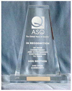 ASQ Special Recognition Award 2021