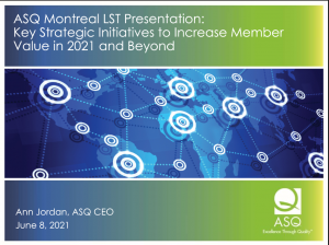 ASQ Montreal Presentation Slide